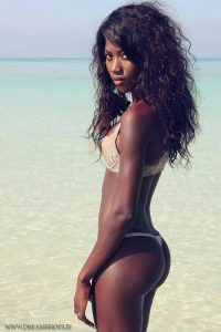 Sexy, mujer negra
